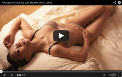 Simple Boudoir Lighting (Video)