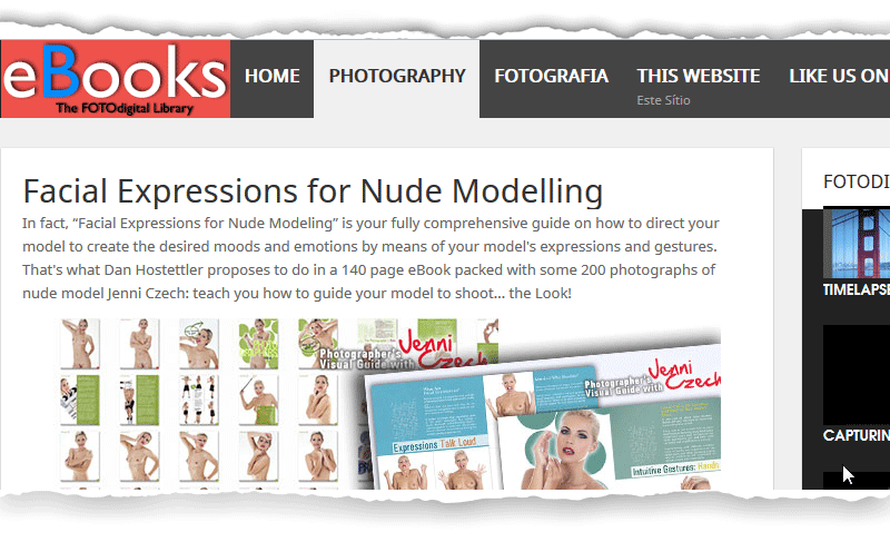 Featured on FOTODigital, Portugal Facial Expressions for Nude Modeling