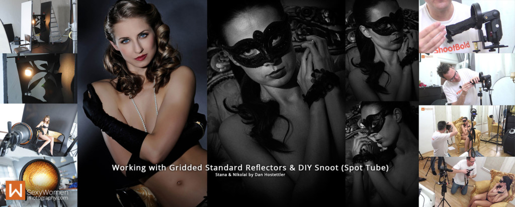 8 - Photography Lighting - Using Gridded Standard Relfector & Snoot