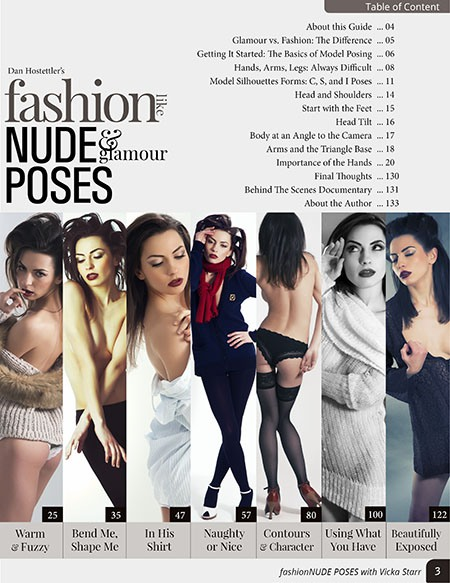 Table of Content - fashionNUDES & Glamour Poses - Volume 1 - with Vicka Starr