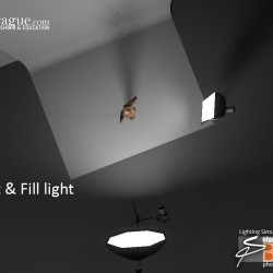 3D - 4 Point Lighting - Keylight & Fill Light - Set and Photo Light Simulation - Perspective 2