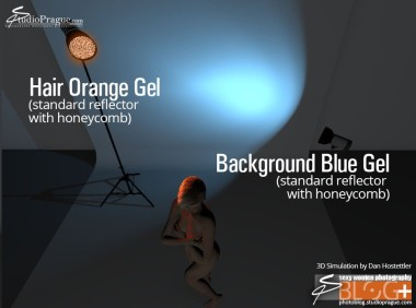 Basic Glamour Lighting Tutorial - 3D BTS Shots Light Settings - Gels Only