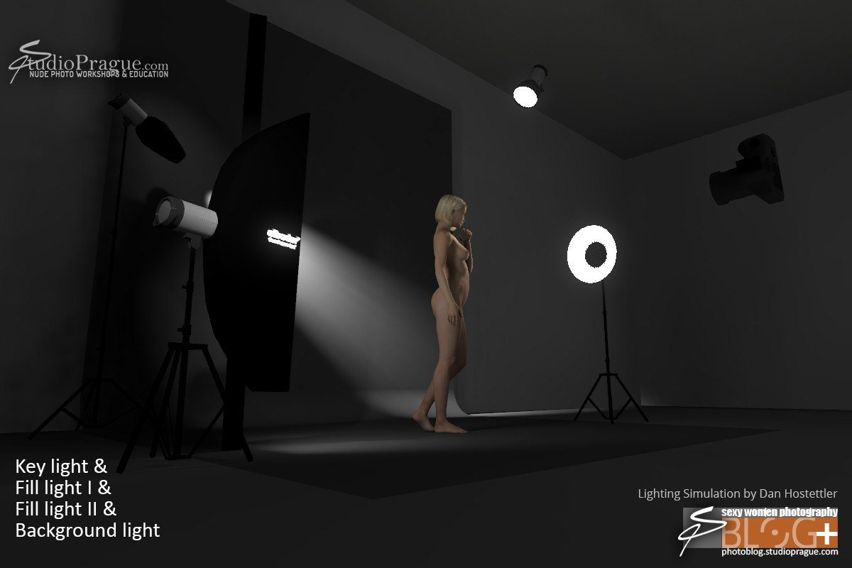 Angle 3 - 4 lights - 4-Point Lighting - BTS - 3D Simulation