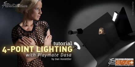 """Four-Light Setup """"Accentuated Low-Key"""" – with Czech Playmate Dasa"""