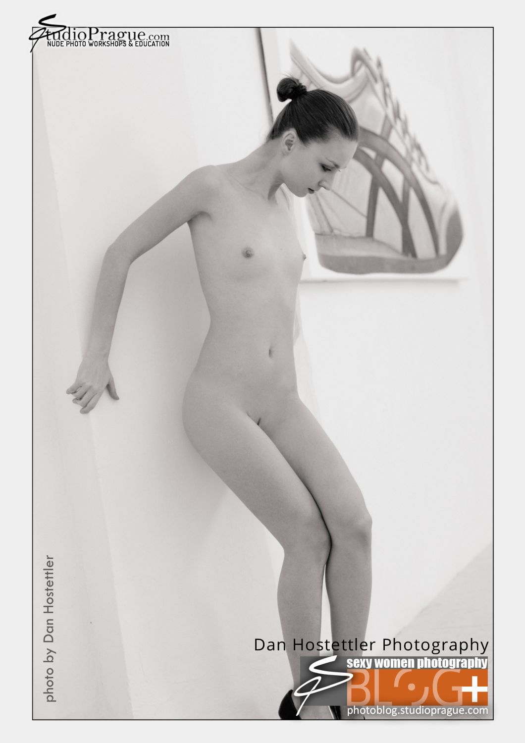 Chloe Nude Photo Shoot in Gallery, Prague - by Dan Hostettler
