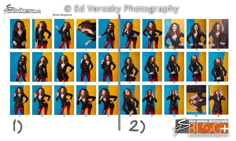 Contact Sheet 1 - Studio & Model Photography - NYC - 1979 Theme Photo Shoot with Ed Verosky