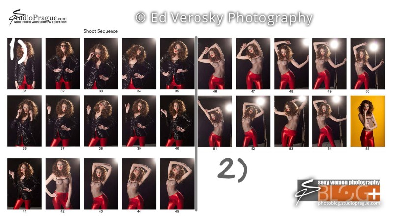 Contact Sheet 2 - Studio & Model Photography - NYC - 1979 Theme Photo Shoot with Ed Verosky
