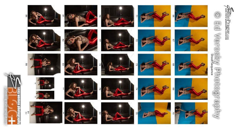 Contact Sheet 4 - Studio & Model Photography - NYC - 1979 Theme Photo Shoot with Ed Verosky