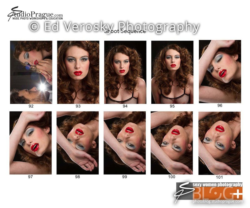 Contact Sheet 5 - Studio & Model Photography - NYC - 1979 Theme Photo Shoot with Ed Verosky