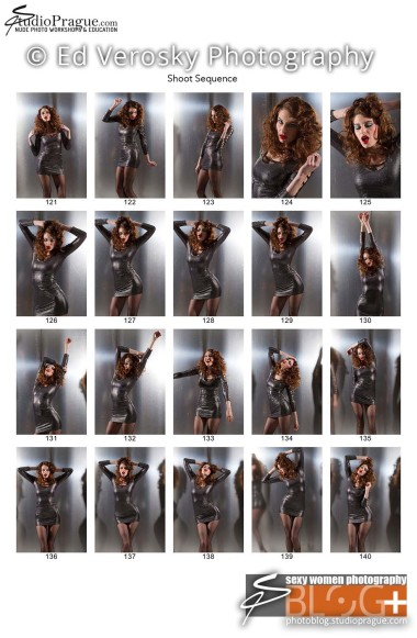 Contact Sheet 7 - Studio & Model Photography - NYC - 1979 Theme Photo Shoot with Ed Verosky