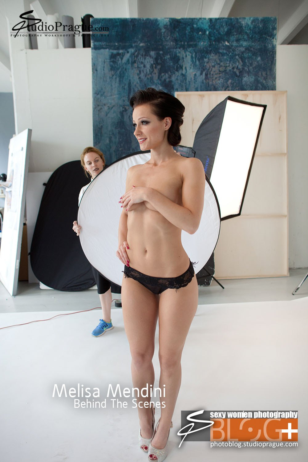 Melisa Mendini - Behind the Scenes in Photo Studio 1 - by Dan Hostettler