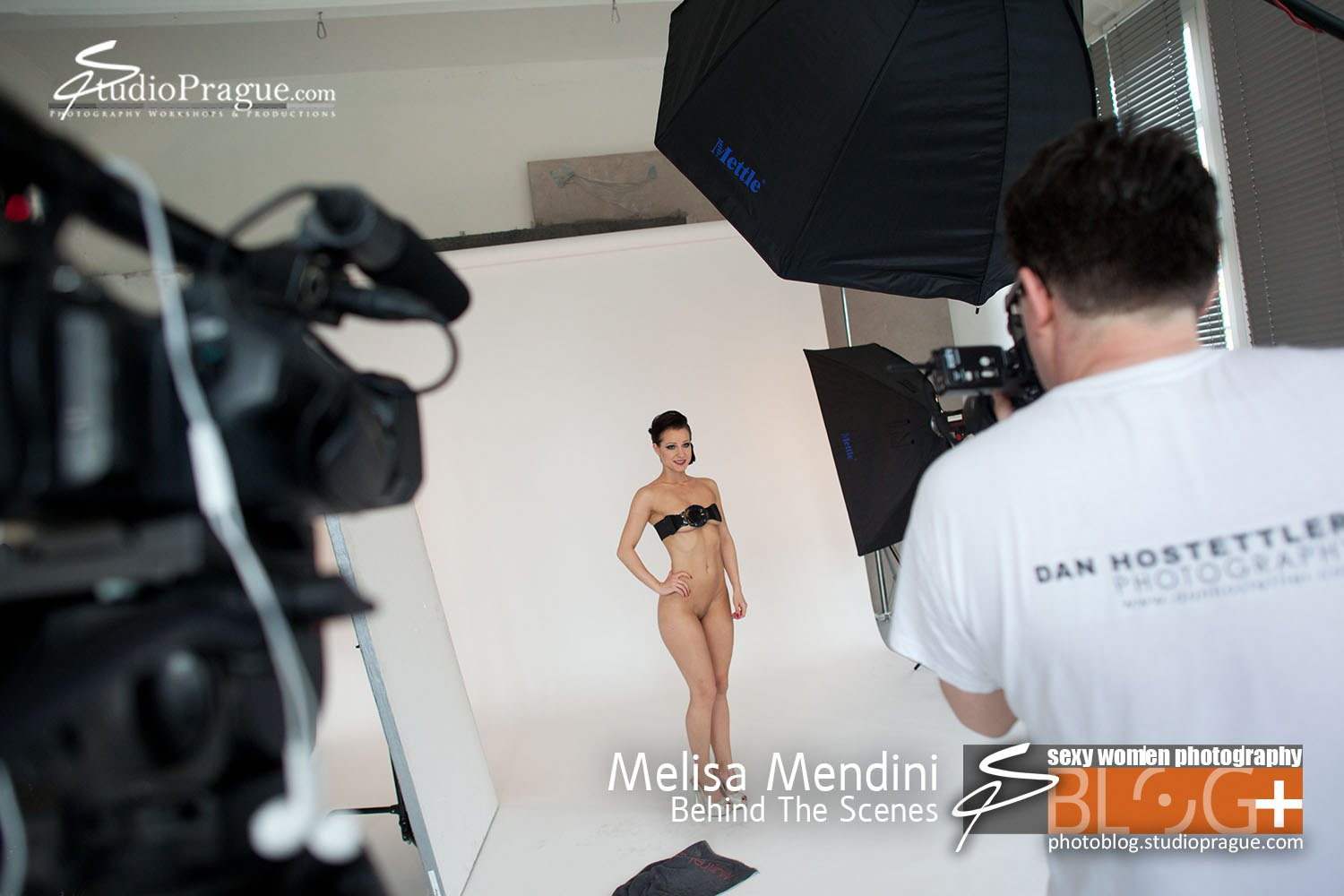 Melisa Mendini - Behind the Scenes in Photo Studio 3 - by Dan Hostettler