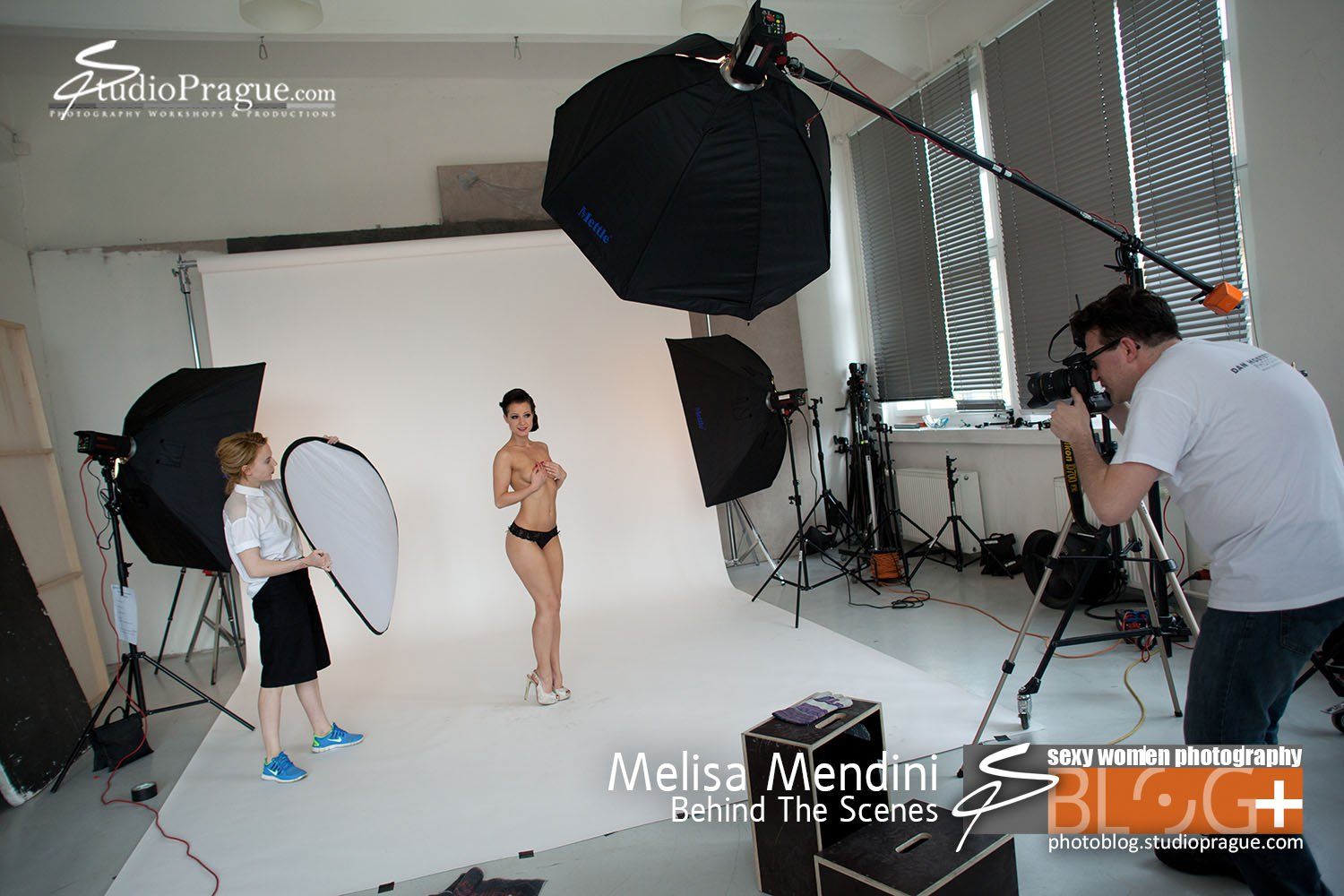 Melisa Mendini - Behind the Scenes in Photo Studio 4 - by Dan Hostettler