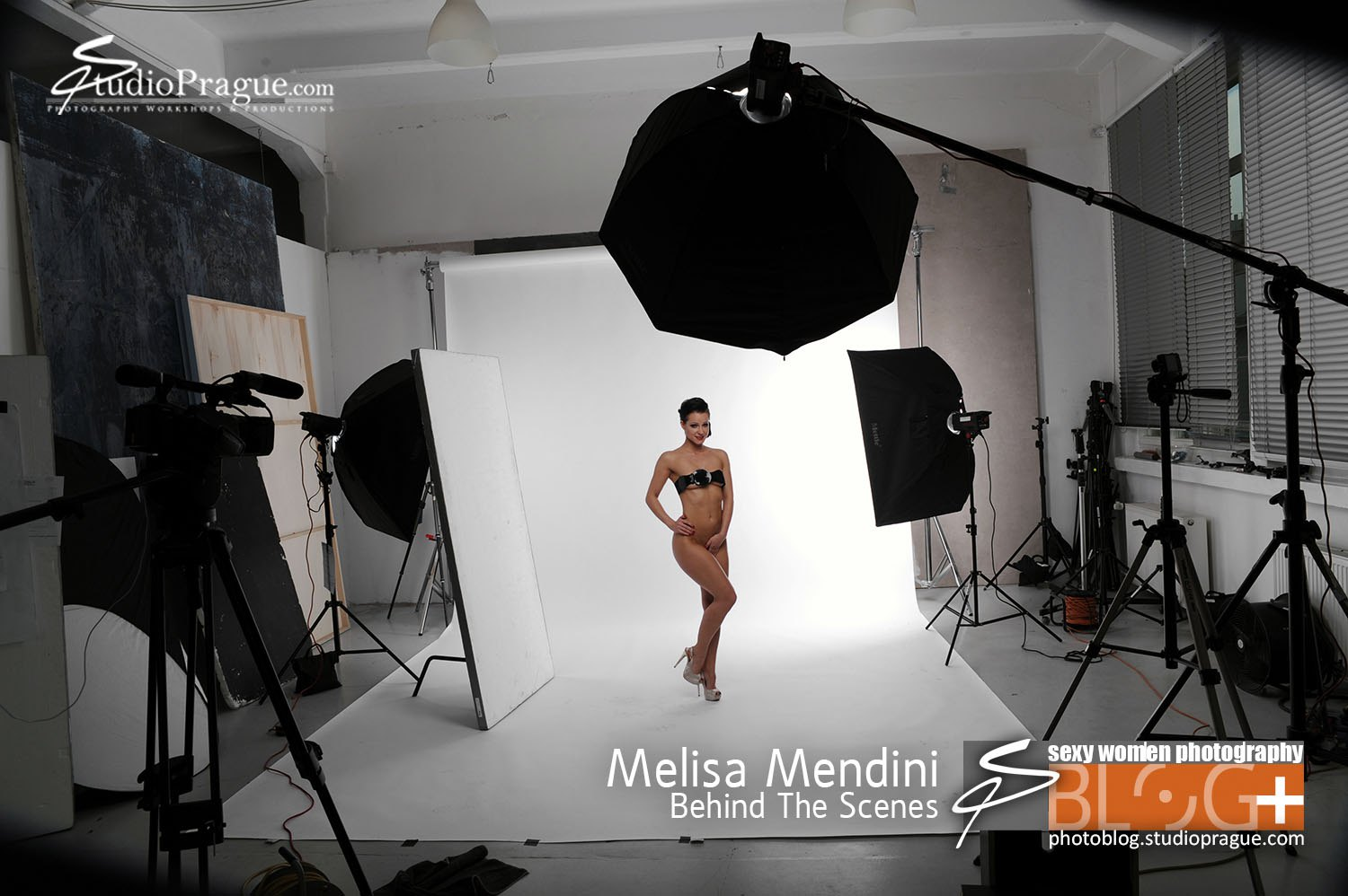 Melisa Mendini - Behind the Scenes in Photo Studio 5 - by Dan Hostettler