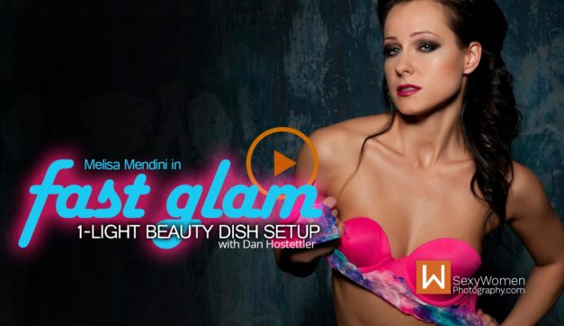 Fast Glam with Beauty Dish: 1-Light Setup (Video)
