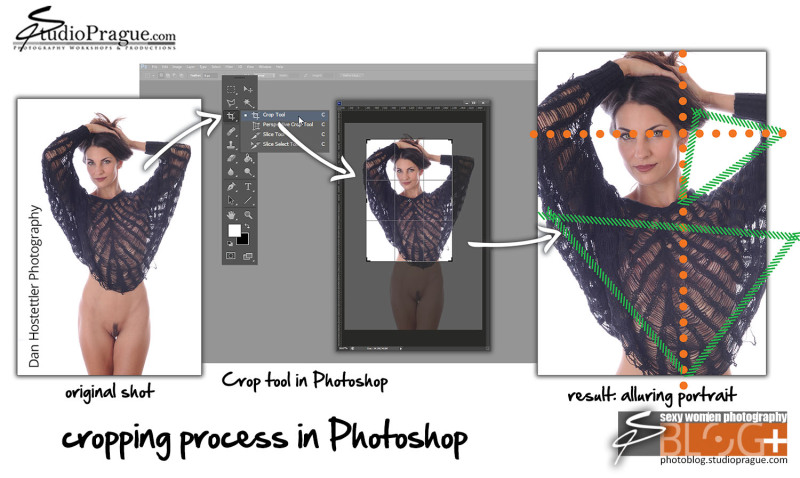 Cropping images in Photoshop - Full Process