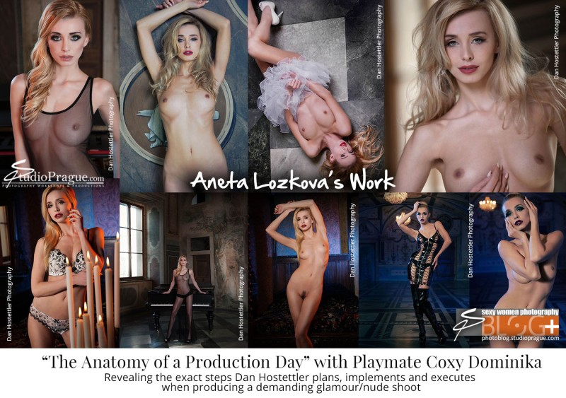Aneta Lozkova - The Look Maker - Beautify & Styling - Playmate Coxy Dominika - Anatomy of a Production Day