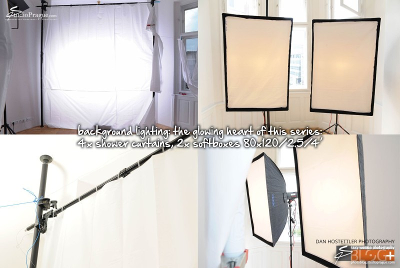 Background Light, Softbox & Shower Curtain - Shooting Black & White Nudes at Home