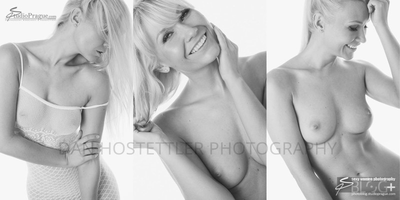 Blonde Nude Photo Model - Shooting Black & White Nudes at Home