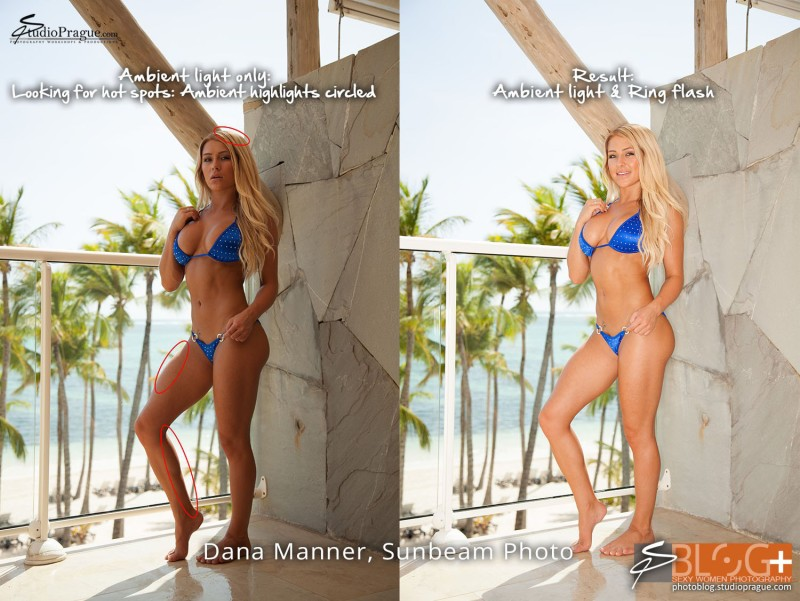 Testing Ambient Light - Bikini Model Champion Photo Shooting - Success Story
