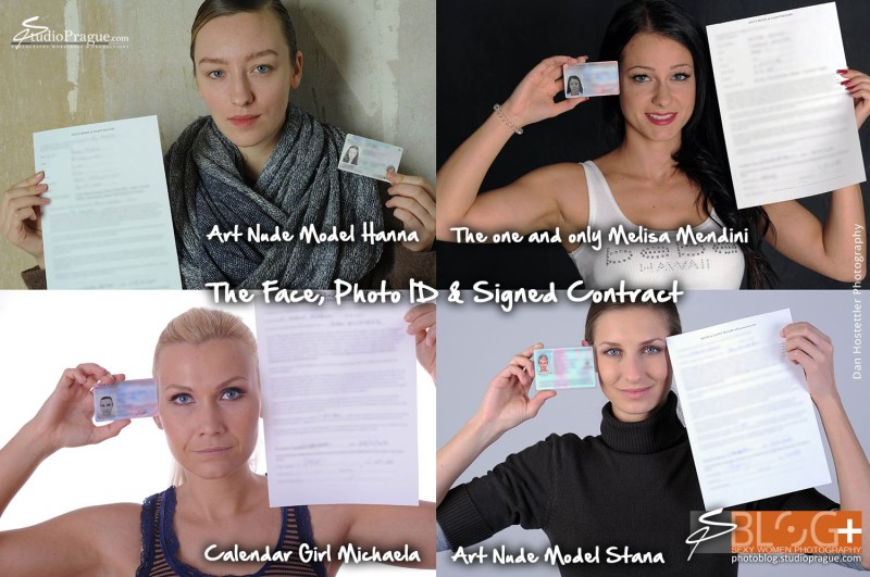 ID Shot & Contract at the End of a Shoot - Photo Model Releases