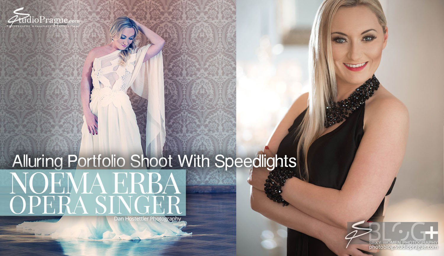 Working With Speedlights: Alluring Portfolio Shoot for Noema Erba, Opera Singer