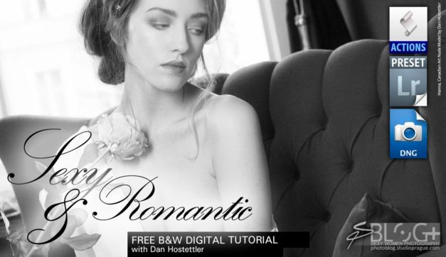 A Sexy Romantic Touch – B&W Digital Photography