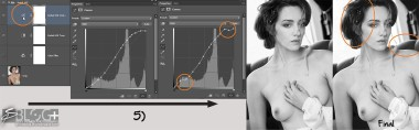 9 - 3 - Photoshop B&W Conversion Steps - Sexy Romantic Look - with Kodak HIE Inf - B&W Photography Digital