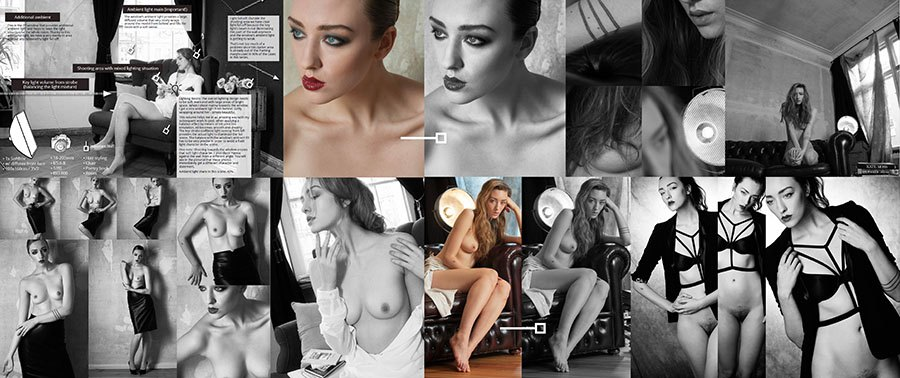 Femininity - Hanna in Berlin - Extensive B&W Nude Photography Case Studies