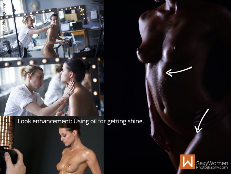 Look Enhancement with Oil & Reflector Fill-In 1- Bodyscape Art Nudes with Melisa Mendini