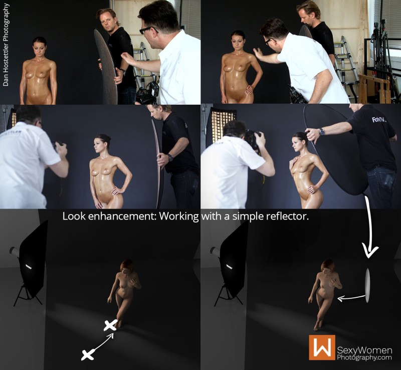 Look Enhancement with Oil & Reflector Fill-In 2- Bodyscape Art Nudes with Melisa Mendini y