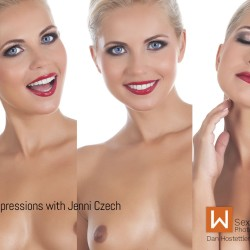 Jenni Czech Facial Expressions for Nude Modeling