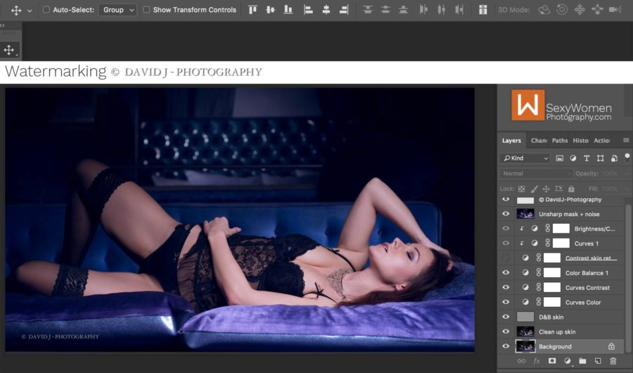 Editing - 3-light setup with Melisa Mendini - David Jorissen Photography