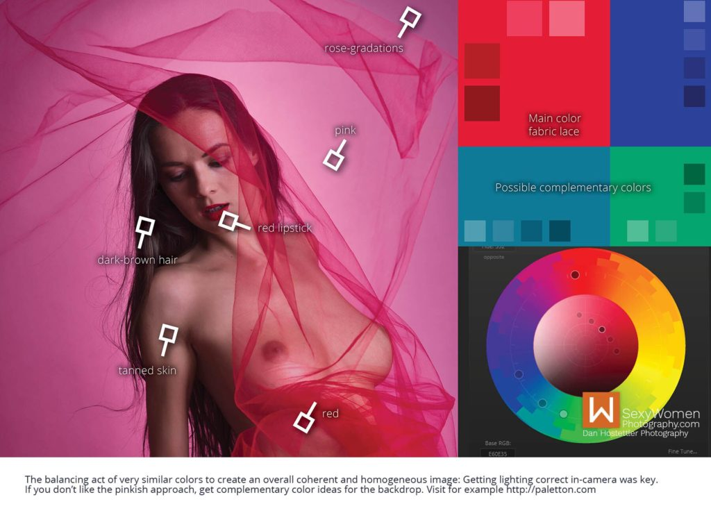 Color Scheme - Red Breeze - Artistic Glam - Low Budget Creative Nudes
