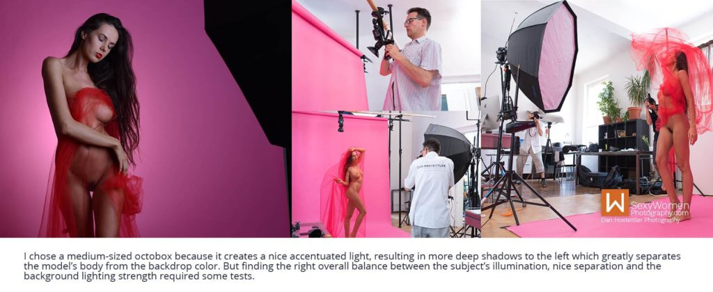 Learn Photography Lighting . Red Breeze - Artistic Glam - Low Budget Creative Nudes