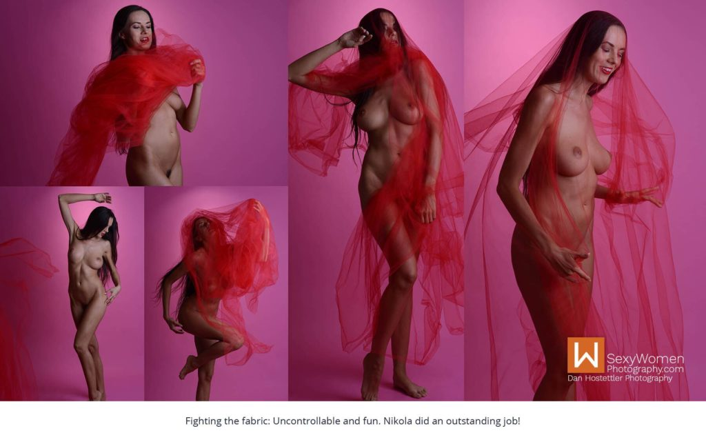 Fighting The Fabric - Red Breeze - Artistic Glam - Low Budget Creative Nudes