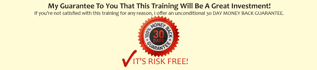Buy with confidence: 30 Days Money Back Guarantee