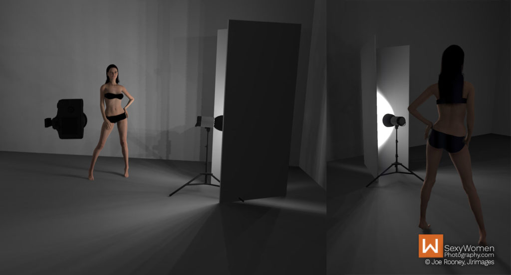 Model-Posing - Photo Project Clothed With Darkness – concept lighting and implementation