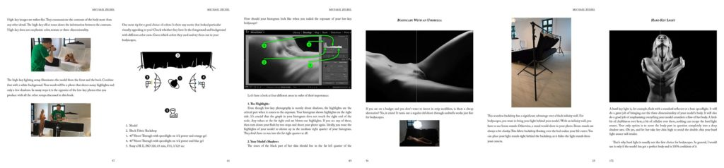 Excerpt Pages eBook - Low-Key Bodyscapes - Nude Photography by Michael Zelbel