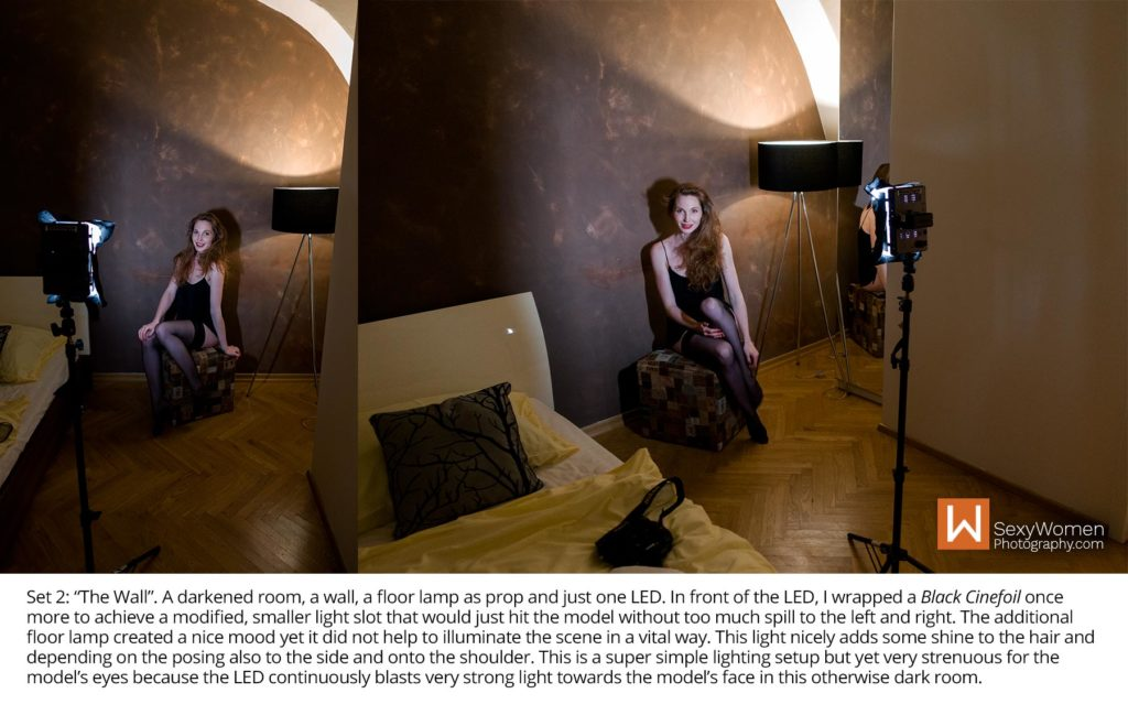 BTS 4 - Set 2, Lighing Setup - Portrait Nudes with LED Portrait Lighting