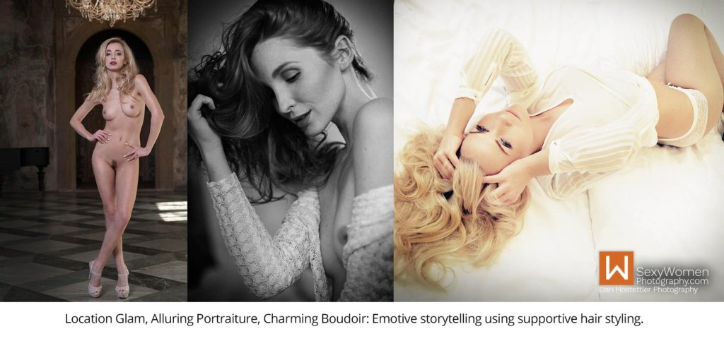 3 - Portraiture, Glamour Photography, Boudoir Charm - Hairstyle in photo shoot