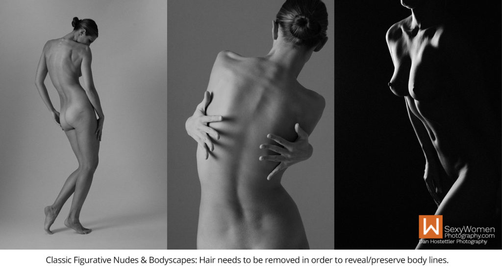 4 - Classic Nudes & Bodyscapes - Hairstyle in photo shoot