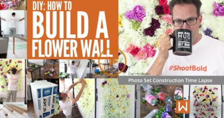 DIY: Making A Flower Wall As Photo Backdrop