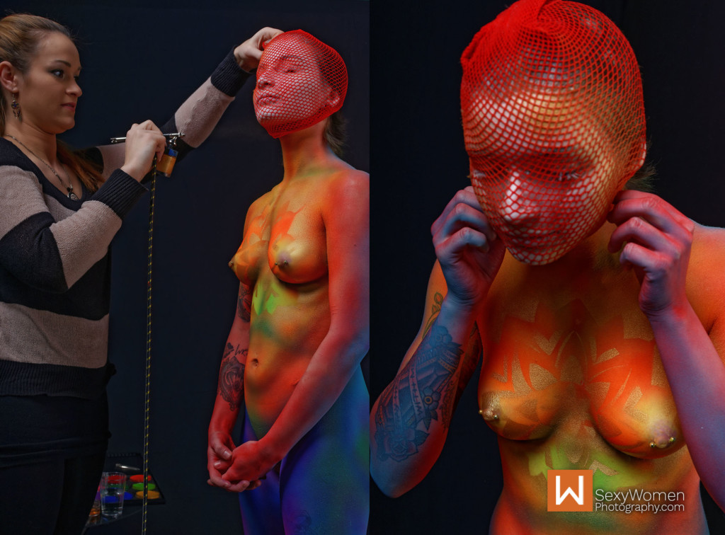 10 - Body Painting Using A plastic mesh sock - 37,38