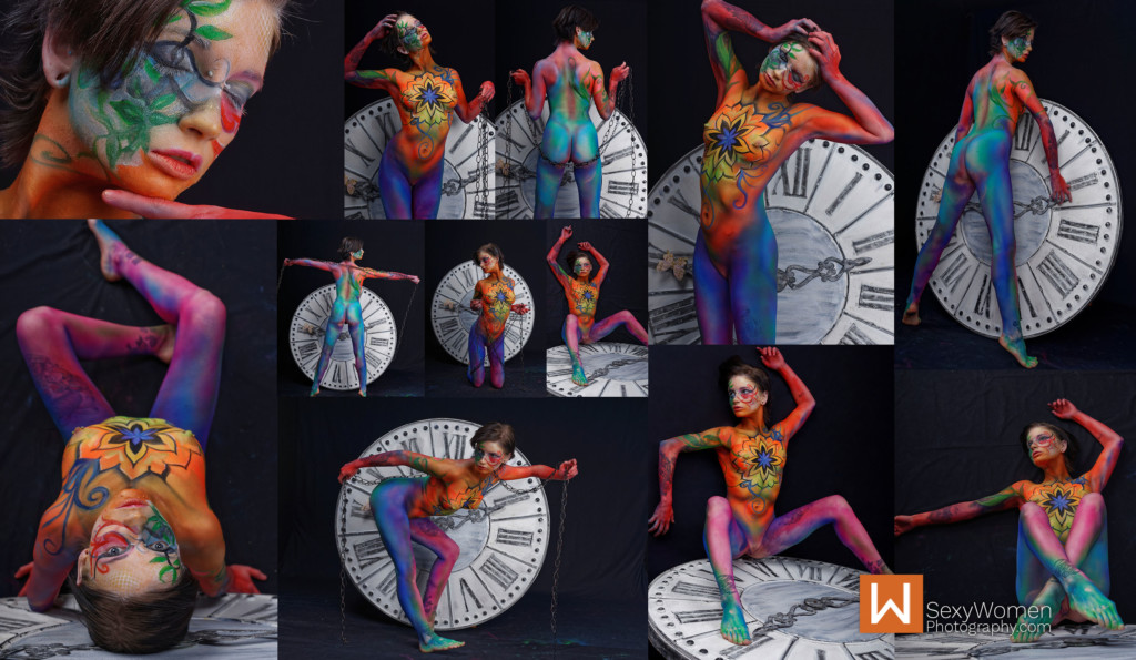 13 - Body Painting Results - Art Nude Photography feat. Model Oliver Ellen Davis