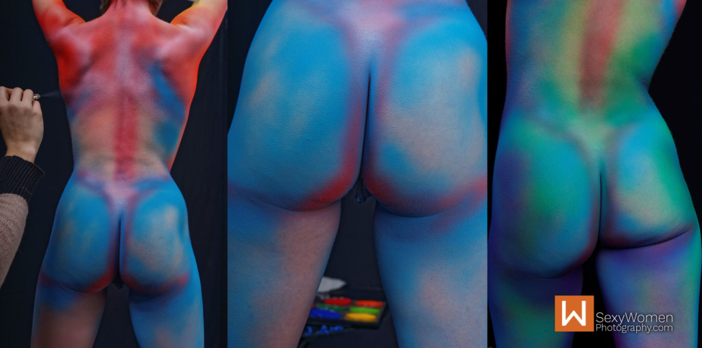 7 - Body Painting Model Oliver Ellen Davis Back & Butt - 29,30,31