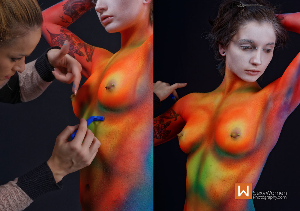 8 - Body Painting Model Oliver Ellen Davis Last Touches - 32,33