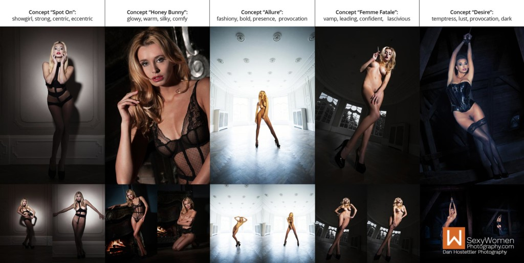 2 - Dramatic Lighting for Nude Photography - Photo Concepts With Keywords - Dan Hostettler Photography