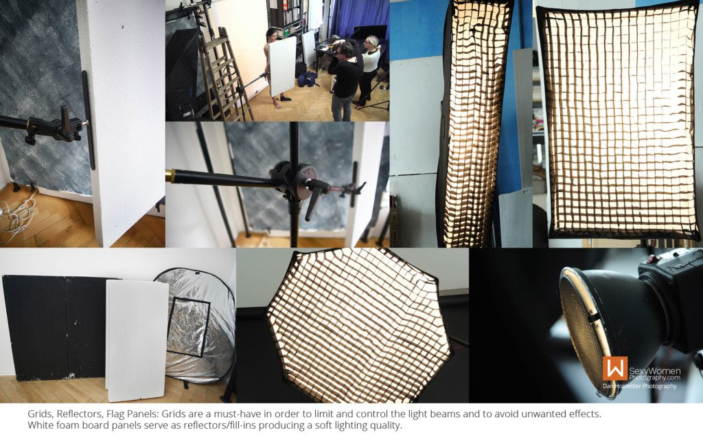 11 - Photography Lighting Modifiers - Reflectors & Grids