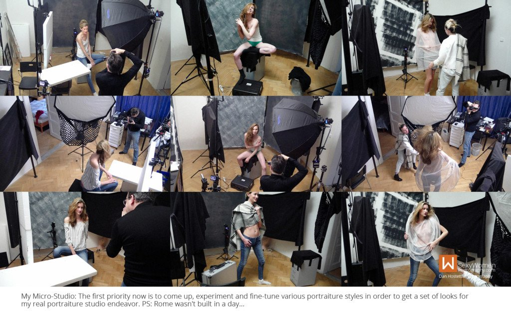 4 - Testing Concepts, Lighting, Posing in Home Photo Studio